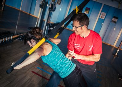 Using the TRX to help with posture